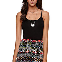 LA Hearts Tank 2Fer Romper - Womens Dress - Black -