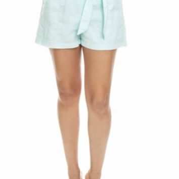 Spearmint Bow Shorts