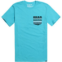 Hurley Tribal Pocket T-Shirt - Mens Tee - Blue -