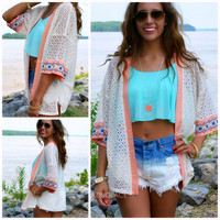 Call of The Wild Embroidered Crochet Cardigan