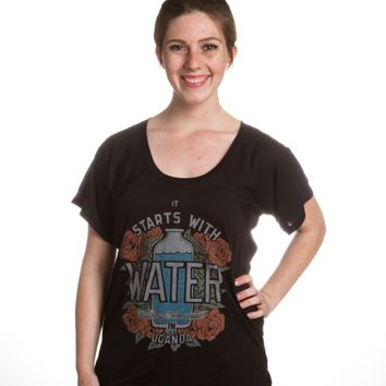Start with Water Flowy Raglan