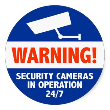 Warning Security Camera Signs