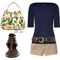 Navy and Brown - Polyvore