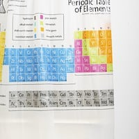 Periodic Table Shower Curtain - Urban Outfitters