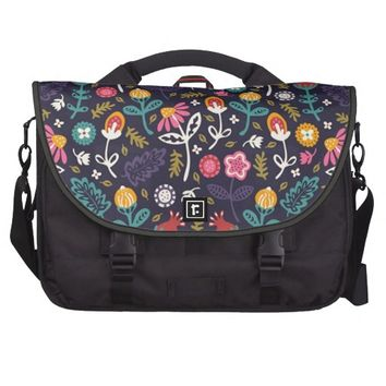 Elegant Vintage Floral Pattern Laptop Bag