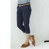 Modern Vertical Stripes Fold Master Pants Jeans Blue-Wholesale Women Fashion From Icanfashion.com