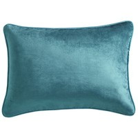 Velvet Lumbar Pillow - Teal