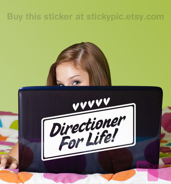 >>Directioner For Life<< One Direction Laptop Decal by stickypic