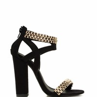 World Wonder Pyramid Studded Heels