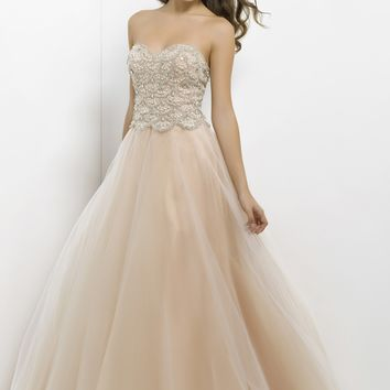 Pink by Blush 5302 Champagne Ball Gown Website Special