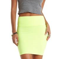 NEON HIGH-WAISTED BODYCON MINI SKIRT
