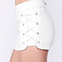Free People Womens High Waist Lace Short -