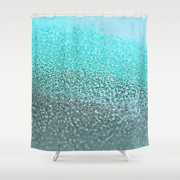 *** GATSBY TEAL *** Shower Curtain by Monika Strigel | Society6