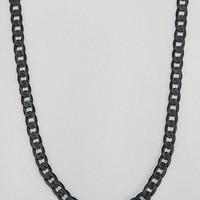 Link Chain Necklace- Black One