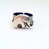 Lucky Elephant Ring Good Luck Elephant by Jennasjewelrydesign