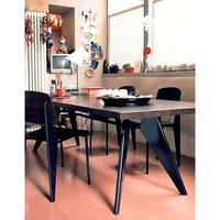 Vitra EM 5 Piece Standard Chair Dining Set by Jean Prouvé