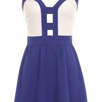 Cut Out Chiffon Dress