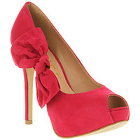 Kind Bow Court Fushia Nubuck Shoes