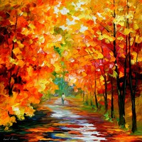 GOLD EXPANSE — PALETTE KNIFE Oil Painting On Canvas By Leonid Afremov - Size 30x30. 10% discount coupon as well - deviantart10off