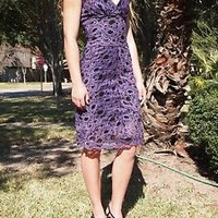 Nicole Miller $410  Nwt Lace bodycon ANTHROPOLOGIE RARE   Dress~ xSmall~ 2