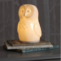 Ceramic Owl Night Light | Lighting | House &amp; Home | House &amp; Home | rigby &amp; mac