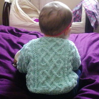 Garbhan baby/toddler aran cable sweater PDF knitting pattern