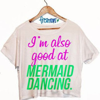 Mermaid Dancing Crop Shirt