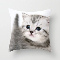 Cat Throw Pillow by Max Jones | Society6