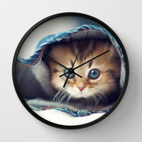 meow Wall Clock by Max Jones | Society6