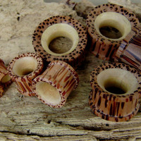 Real gauge,Natural coconut wood and crocodile wood hand made,tribal,plugs,6mm,8mm,10mm,12mm,14mm,16mm,organic