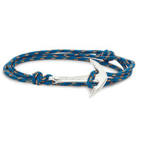 Miansai - Rope and Silver Anchor Bracelet | MR PORTER
