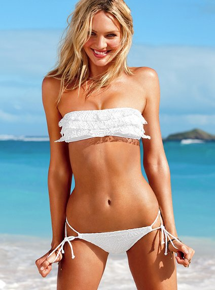 Lace Ruffle Bandeau Top - Beach Sexy® - Victoria's Secret