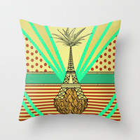 Pineapple architecture 4 : Eiffel Tower Throw Pillow by AmDuf