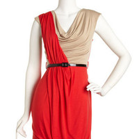 Casual Couture - Draped-Front Belted Dress - Last Call
