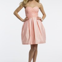 Short Lace Box Pleat Dress