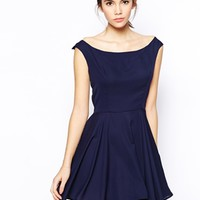 Love Skater Dress with Bardot Neck -