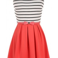Striped Belted Dress - 29 N Under