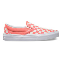 Vans Checkerboard Slip On (fusion coral/white)