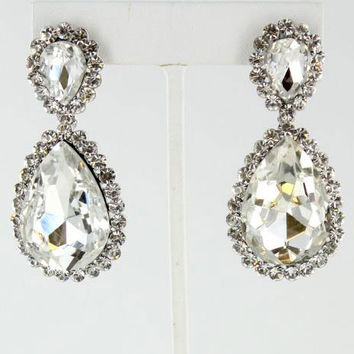 Helen's Heart JE-4601-10 Clear/Silver Sparkly earrings Prom earrings Online
