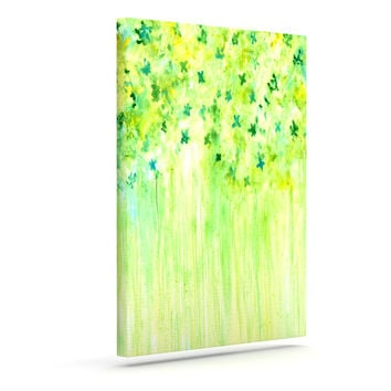"Rosie Brown ""April Showers"" Lime Green Outdoor Canvas Wall Art"