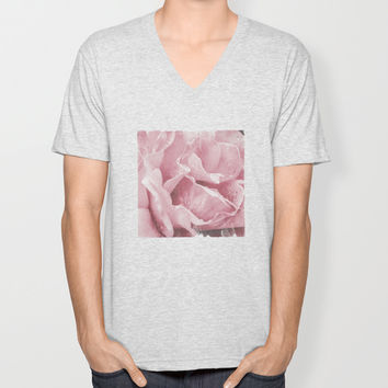 Pink Drops V-neck T-shirt by Ia Loredana | Society6
