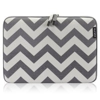 "Runetz - 13-inch Chevron Gray Soft Sleeve Case Cover for MacBook Pro 13.3"" with or w/out Retina Display and MacBook Air 13"" Laptop Gabbro Collection - Chevron Gray"