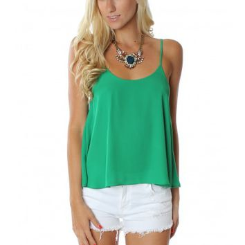 Essential Green Button Tank