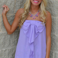 Lilac BOW-Tiful Strapless Top · Haute Pink