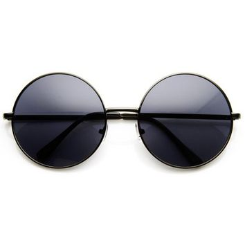 Super Large Oversized Metal Round Circle Sunglasses