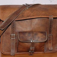 Leather Satchel / Messenger / Laptop Bag  Mens  by GenuineGoods786