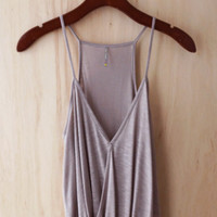 Faux Tuck Camisole, Sand Taupe (Great Investment Piece)