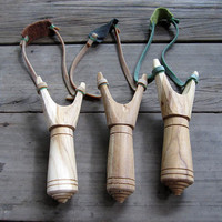 Wooden Slingshot Catapult Hand Made & Vintage by GiftGoGreen