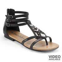 Mudd® Embellished Gladiator Sandals - Women