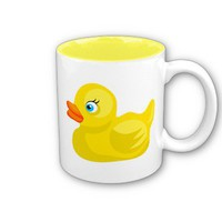 Yellow Rubber Duck Mug from Zazzle.com
